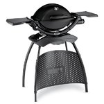 Weber Q 1200 Black BBQ with Stand