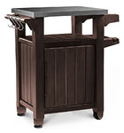 Small BBQ Storage Table - Prep Station - Serving Cart with Metal top
