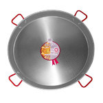 Polished Steel Paella Pan 115 cm.