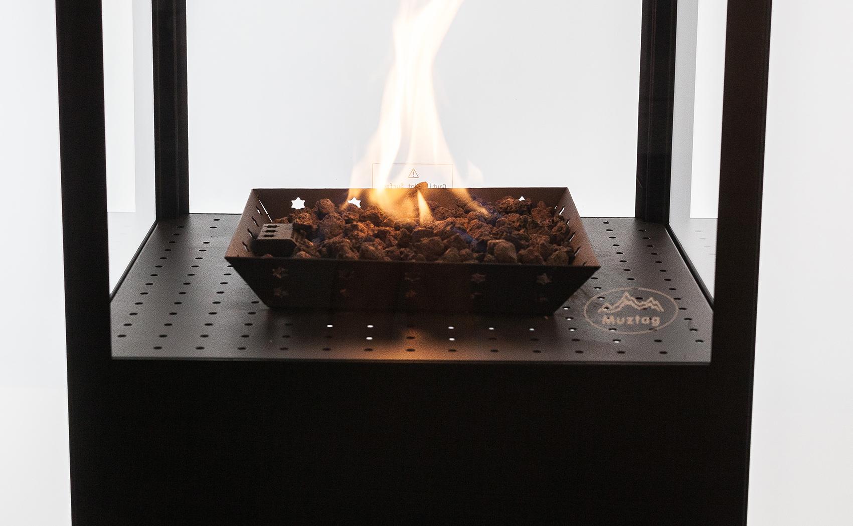 Rovaniemi Flame Gas Patio Heater With