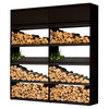 Wood Storage Black Ofyr 200 cm