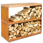 FireWood Storage Shed with 2 Shelves