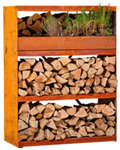 FireWood Storage Shed with 3 Shelves