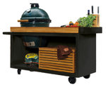 Mesa con tabla Teca Ofyr Negro Big Green Egg